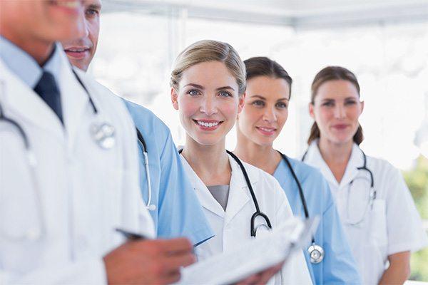 lineup of doctors