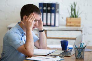 office man headache