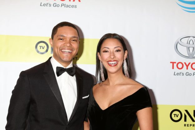 Trevor Noah, Jordyn Taylor at the 48th NAACP Image Awards Arrivals at Pasadena Conference Center on February 11, 2017 in Pasadena, CA