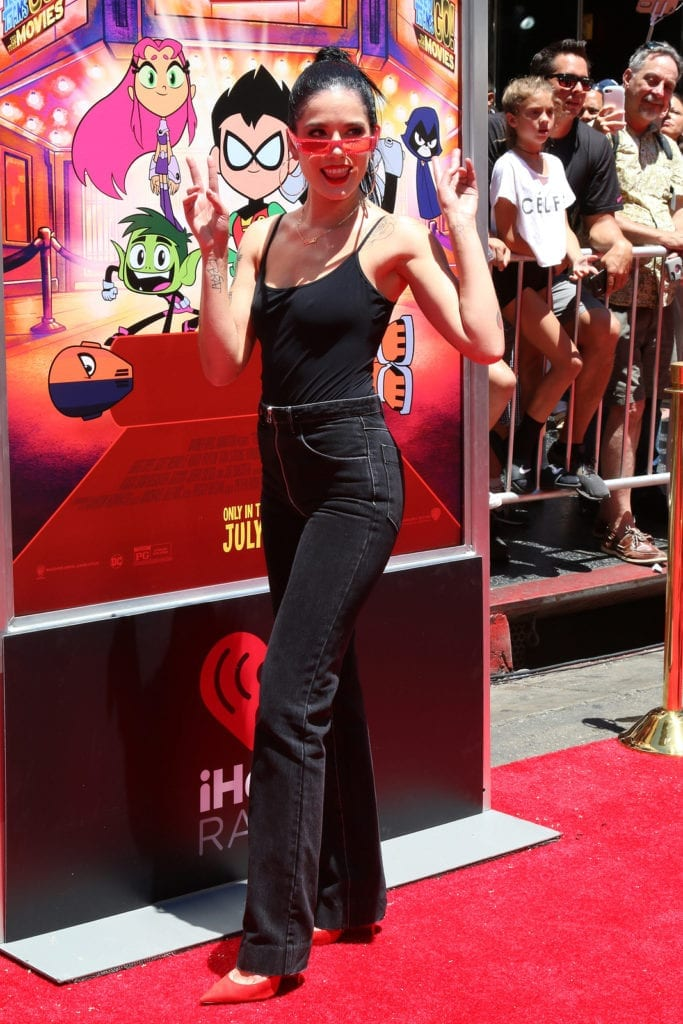 """LOS ANGELES - JUL 22: Halsey at the """"Teen Titans Go! To the Movies"""" Premiere on the TCL Chinese Theater IMAX on July 22, 2018 in Los Angeles, CA"""