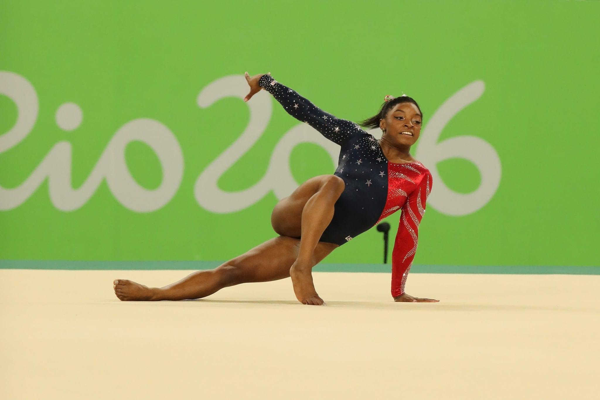 Gymnast Simone Biles at Rio 2016