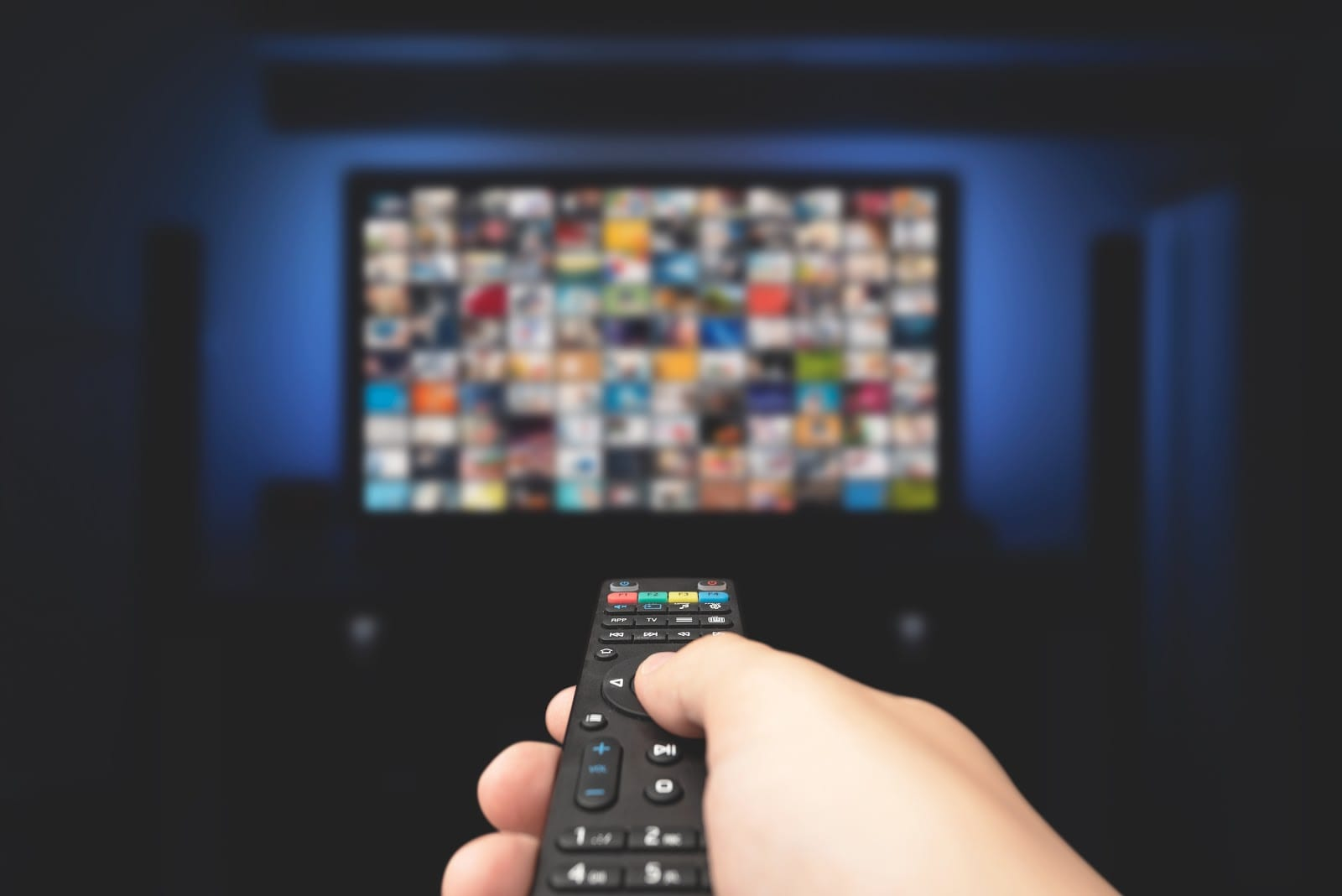 person browsing video streaming services